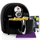 Duronic AF1 /BK friggitrice elettrica friggitrice ad aria calda senza olio 1500W / robot da cucina multifunzione per friggere, grigliare o arrostire senza grassi con libro di ricette gratuito