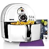 Duronic AF1 /W Friggitrice ad Aria 1500 W – Friggitrice senza olio – Robot da cucina multifunzionale per friggere con libro di ricette - Ideale per friggere, grigliare, arrostire e cottura al forno